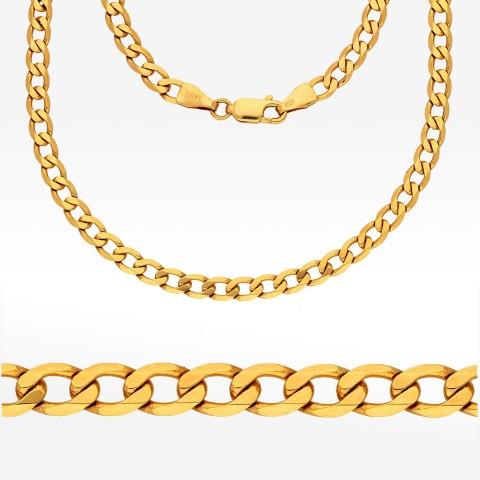 Łańcuszek ze złota 55cm pancerka pełna
