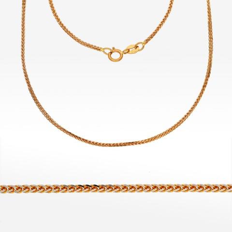 Łańcuszek ze złota 55cm kostka pełna
