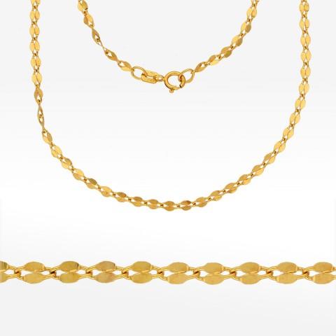 Łańcuszek ze złota 55cm mokka pełna