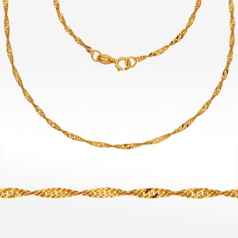 Łańcuszek ze złota 45cm Singapur pełny
