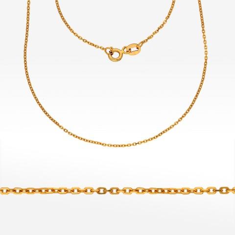 Złoty łańcuszek 50cm splot ankier