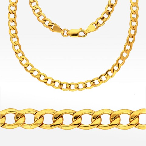 Łańcuszek ze złota 55cm pancerka