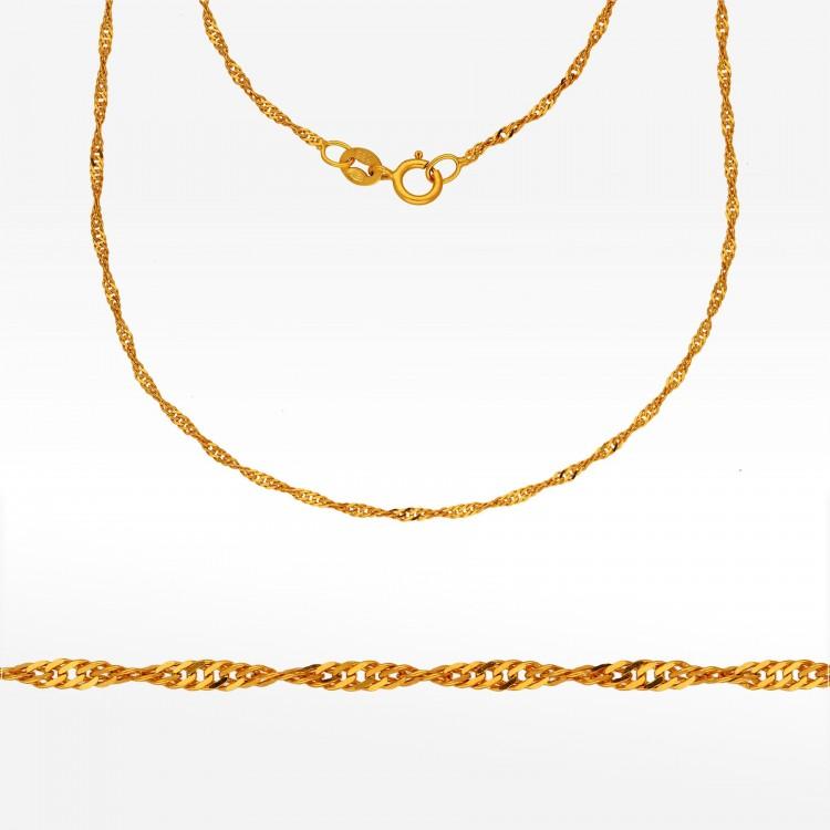 Złoty łańcuszek 42cm Singapur Pełny
