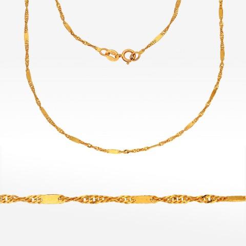 Złoty łańcuszek 50cm Singapur