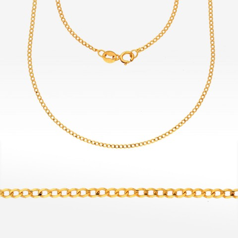 Złoty łańcuszek 50cm splot pancerka Pełny