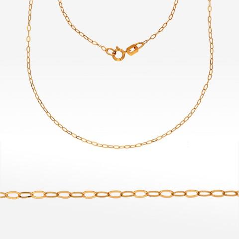 Złoty łańcuszek 50cm splot ankier pełny