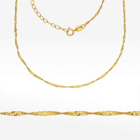 Złoty łańcuszek 42-45cm splot Singapur Pełny