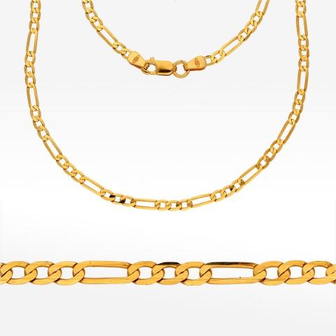 Łańcuszek ze złota 45cm Figaro pełny