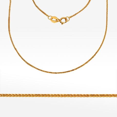 Łańcuszek ze złota 45cm kostka pełna