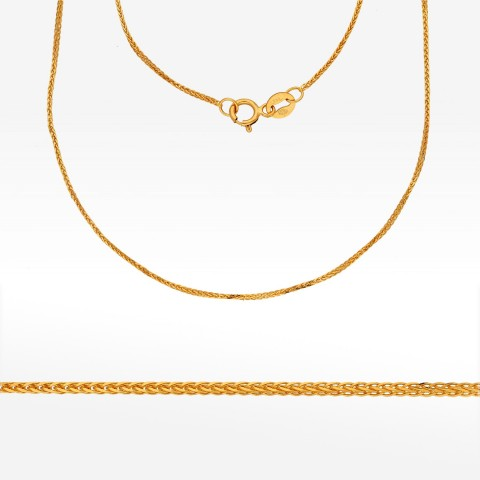 Łańcuszek ze złota 50cm kostka pełna