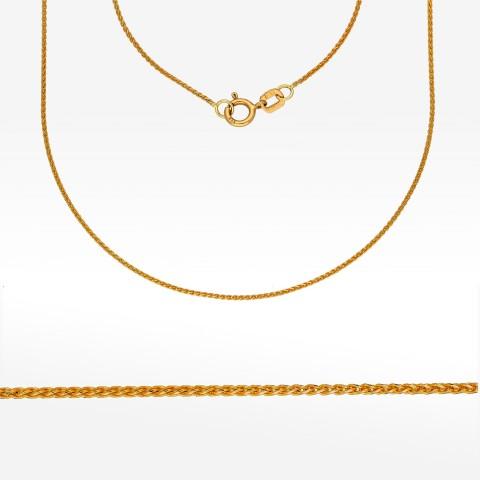 Łańcuszek ze złota 45cm lisi ogon pełny