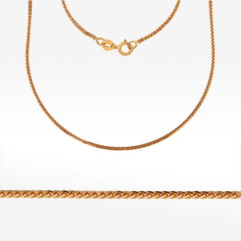 Łańcuszek ze złota 60cm kostka pełna