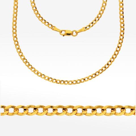 Łańcuszek ze złota 45cm pancerka pełna