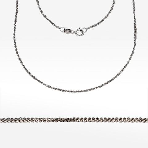 Łańcuszek z białego złota 45cm splot lisi ogon