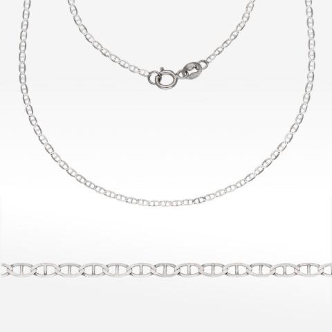 Łańcuszek z białego złota 45cm splot Gucci pełny