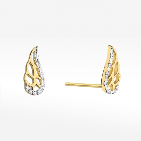 Kolczyki złote z brylantami