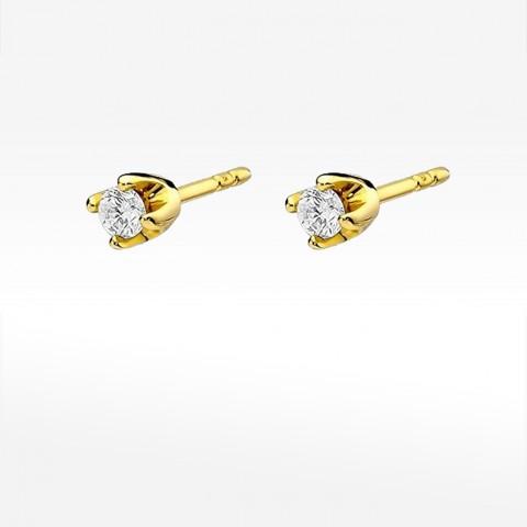Kolczyki ze złota z brylantami