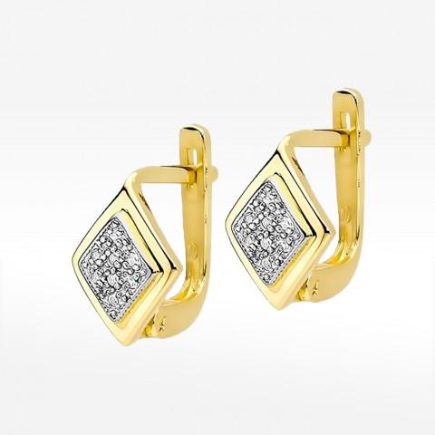 Kolczyki ze złota z brylantami na angielskie zapięcie