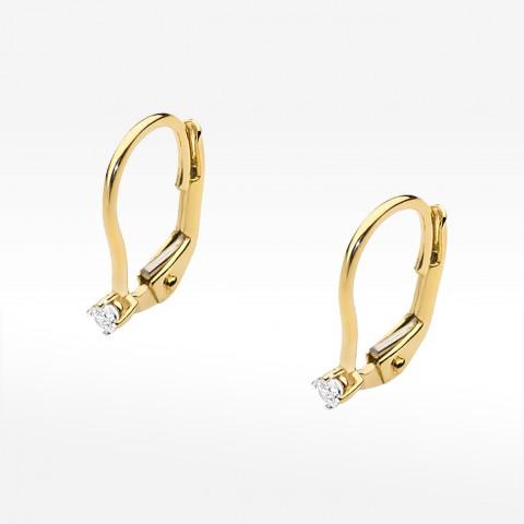 Kolczyki ze złota z brylantami wiszące