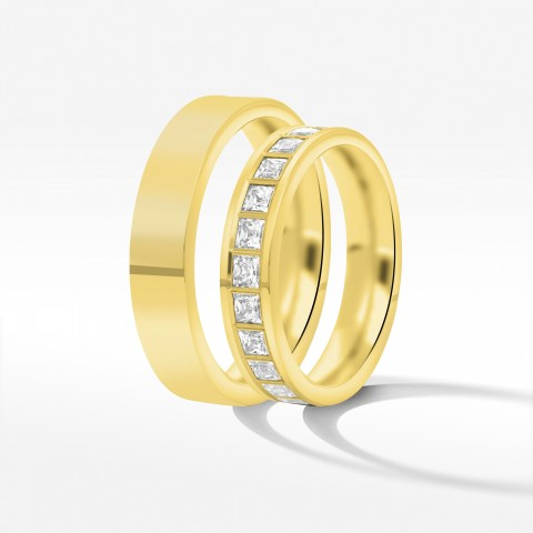 Obrączki ślubne z żółtego złota 4.5mm płaskie