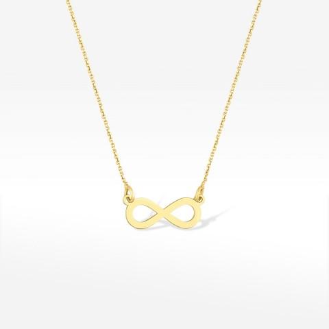 Złota celebrytka z symbolem nieskończoności
