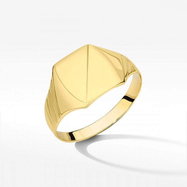 Złoty klasyczny sygnet
