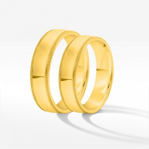 Obrączki ślubne z żółtego złota 4.5mm półokrągłe