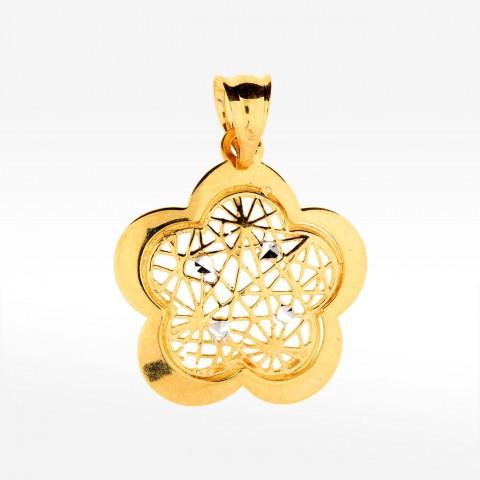 Ażurkowa zawieszka ze złota kwiat
