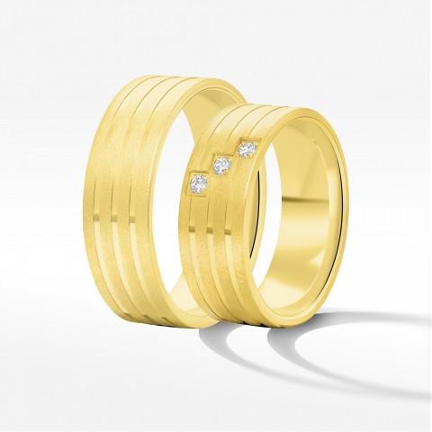 Obrączki ślubne z żółtego złota 7mm płaskie