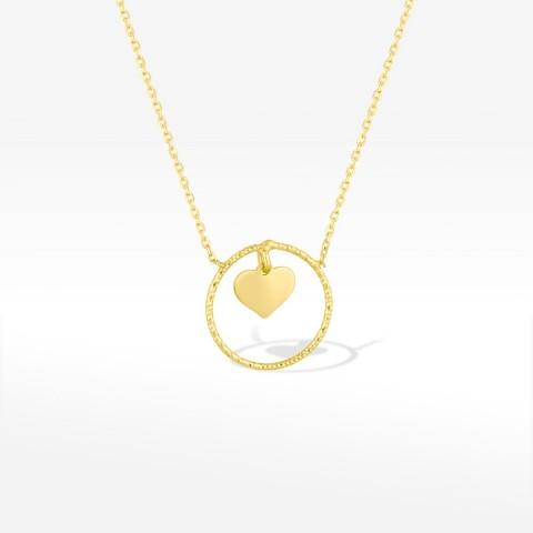Naszyjnik ze złota z serduszkiem