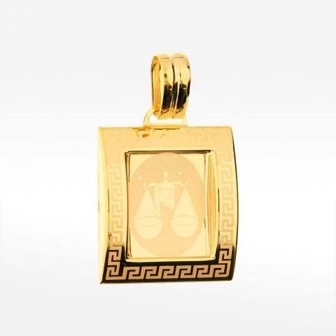Złota zawieszka zodiak waga