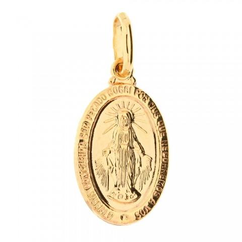 Złota zawieszka. medalik