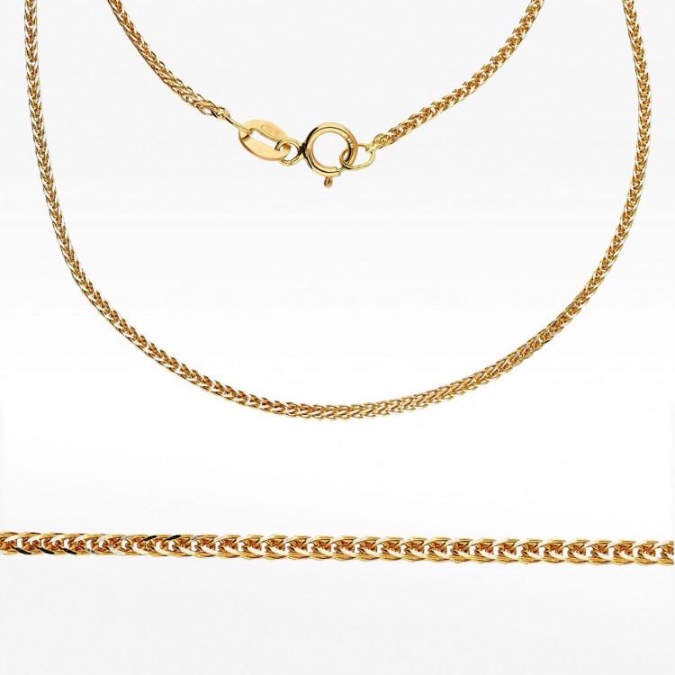 Złoty łańcuszek dwukolorowy 50cm splot lisi ogon