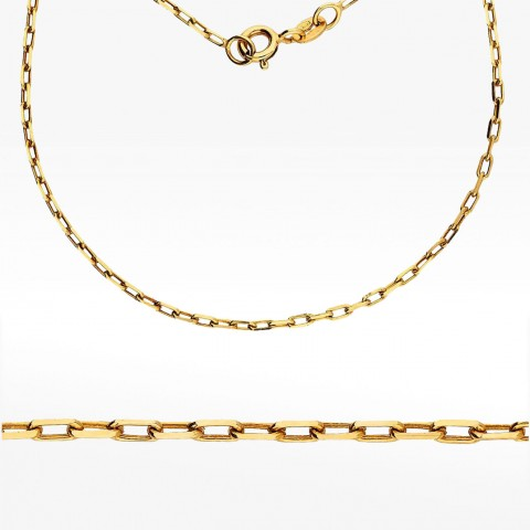 Łańcuszek ze złota 50cm splot ankier