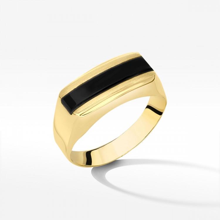 Elegancki sygnet ze złota