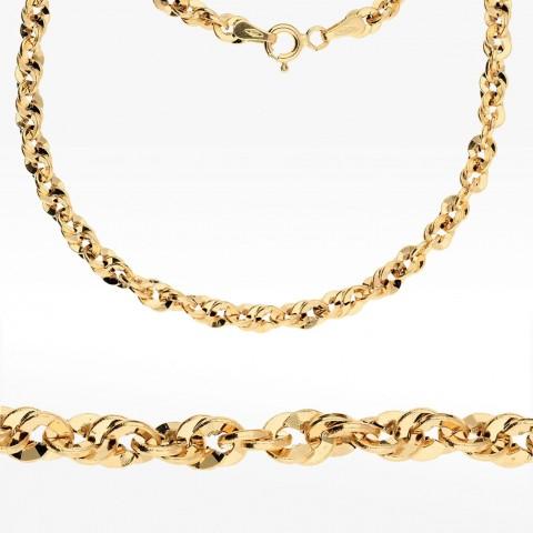 Łańcuszek ze złota 60cm splot kord