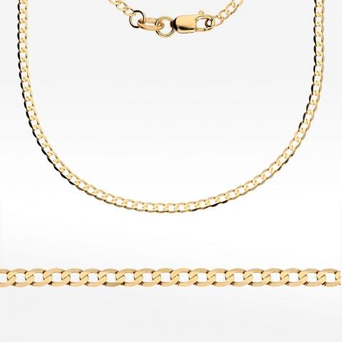 Elegancki złoty łańcuszek 55cm splot pancerka Pełny
