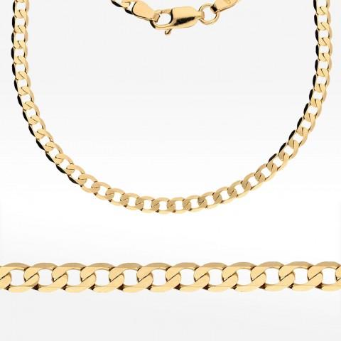 Złoty łańcuszek 60cm splot pancerka Pełny