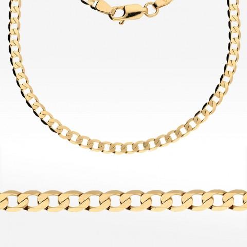 Łańcuszek ze złota 55cm splot pancerka Pełny
