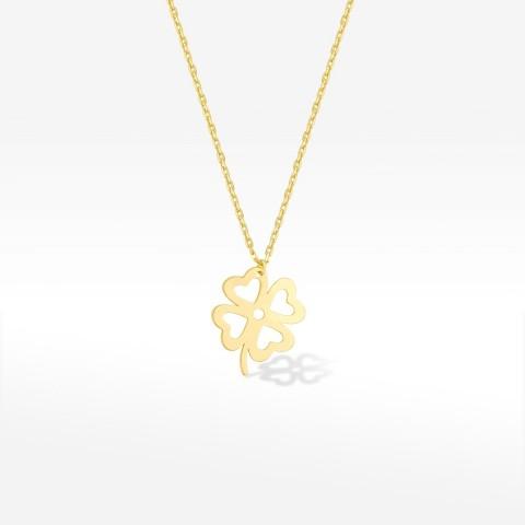 Złota celebrytka czterolistna koniczyna