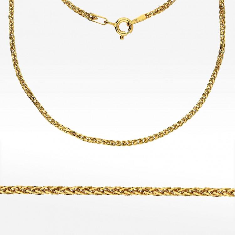 Łańcuszek ze złota 45cm splot lisi ogon
