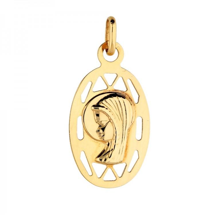 Złoty medalik Matki Boskiej