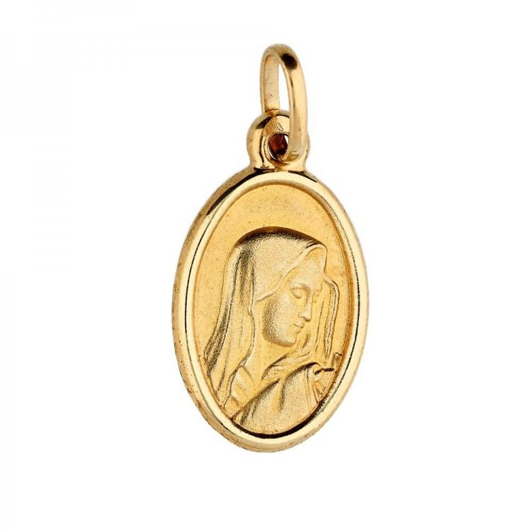 Owalny medalik z Matką Boską