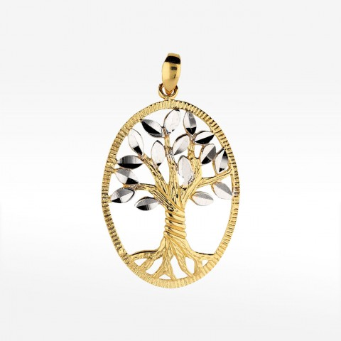 Złota zawieszka drzewa