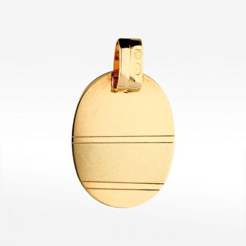 Złoty medalik owalny