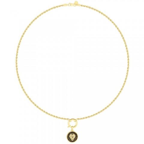 Naszyjnik ze złota z lwem