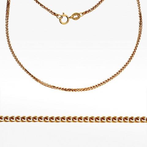 Złoty łańcuszek 55cm splot lisi ogon
