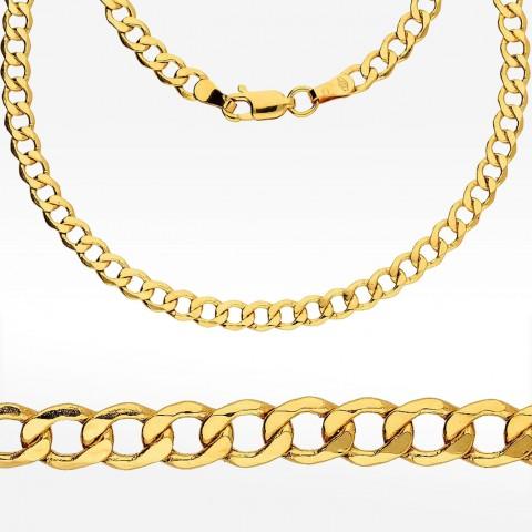 Złoty łańcuch 55cm splot pancerka