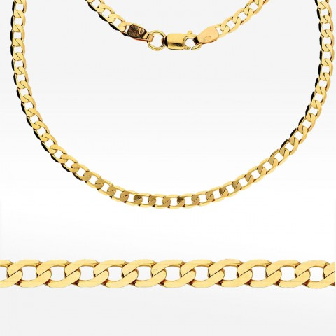 Złoty łańcuszek 45cm splot pancerka