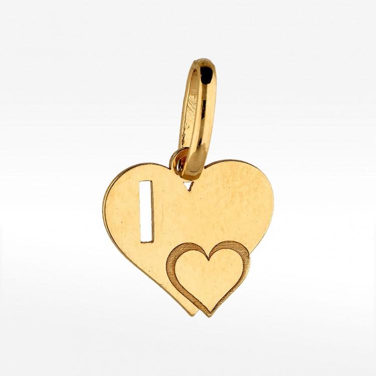 Złota literka I z serduszkiem
